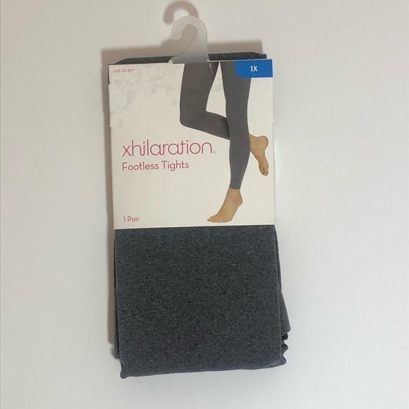 dda829da44baa Xhilaration Accessories   Xhiliration Gray Footless Tights Nwt Sm ...